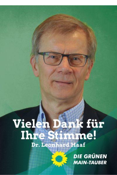 Danksagung von Dr. Leonhard Haaf